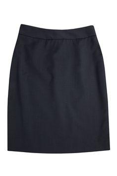 Fine Denim Pindot Skirt