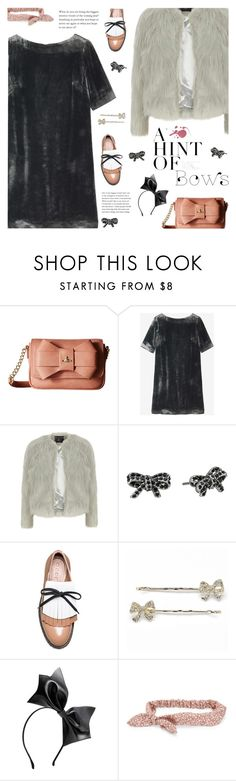 """""""#bows"""" by giulls1 ❤ liked on Polyvore featuring Vivienne Westwood, Toast, Dorothy Perkins, Marc Jacobs, Marni, LC Lauren Conrad, Aéropostale, bows, velvet and accessories"""