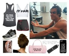 """Ethan Dolan"" by sorrynoturbabe ❤ liked on Polyvore featuring ban.do, Campus Heritage, New Balance, Topshop, Casetify, Elite and Under Armour"