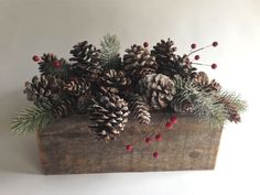 Pinecone Christmas Centerpiece with by thejuxtapositionpdx on Etsy, $110.00