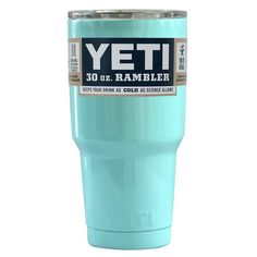 Amazon.com: YETI Coolers Rambler Tumbler, Stainless Steel, 30oz, One Size (Teal Blue): Kitchen & Dining