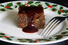 Terapia do Tacho: Brownie de batata doce com coulis de frutos vermelhos (Sweet potato brownie with red berries coulis)