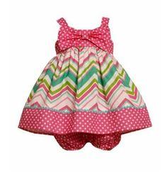 Bonnie Jean Infant Sundress -  Pink Chevron  12 month $19.99
