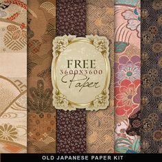 have Freebies Old Japanese Paper