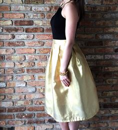 Gold Pleated Skirt Tutorial by Bunny Baubles Blog 6