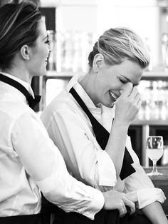 emily blunt and cate blanchett. original photo by peter lindbergh for IWV