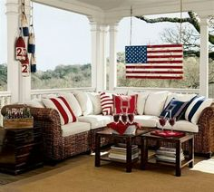 I love seeing how people decorate their homes for holidays and the is no exception! I especially love to see Patriotic Porches all done up in red ... & Patriotic home decor ideas www.blackburninvestors.com ...