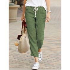 Soft Pants, Loose Pants, Cropped Pants, Harem Pants, Women's Pants, Loose Fit, Moda Casual, Linen Trousers, Linen Pants Outfit