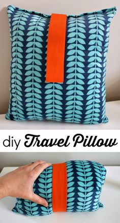 Fifty Two Weekends (...of DIY): DIY Travel Pillow, Plus a Pillow Cubes #Giveaway! #Sponsored #Sewing