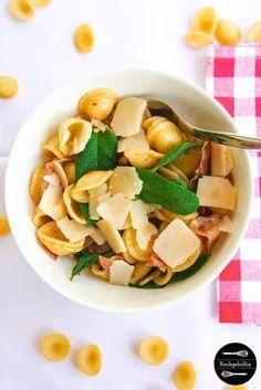15 Minuten Pasta mit Salbei und Parmaschinken