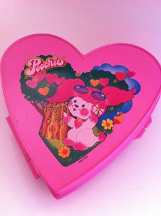 Poochie Heart Case Keepsake Box Rare NO further Discount taken 1980s hardcase purse carrier with strap 80s girl fairy decora