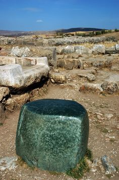 The Green Stone - A massive green rock cube located in the ruins of Hattusa, capital of the Hittite empire. Probably had religious significance, may have been a gift or reparation from an Egyptian pharaoh.
