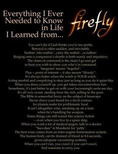 Everything I need to Know I learned from Firefly