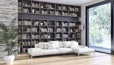Shutterstock Home Library Design Ideas - Lifestyle & Interior Design Trends Home Library Rooms, Home Library Design, Library Furniture, Modern Library, Home Libraries, House Design, Library Ideas, Cozy Library, Library Wall