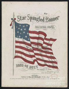 The Star spangled banner : national song(music cover). Stackpole, Prints and Photographs Division, Library of Congress. Star Spangled Banner, I Love America, God Bless America, National Songs, National Anthem, National Days, Patriotic Images, Patriotic Quotes, Patriotic Crafts