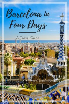 This travel guide will give you an itinerary for seeing Barcelona in 4 days. From spending time in the mountains to soaking up the sun at the beach, Barcelona is the perfect vacation destination! #barcelona #barcelonatravel #barcelonaguide