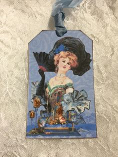 Vintage Women Of The Times Gift Tags, Glittered, Gift Items, Party Favors, Stationery, Notecards by smtiffanylane on Etsy