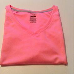 Danskin Now teeshirt Pink, Danskin Now activity teeshirt, drimoore material, 100% polyester, v neck, size M 8-10 Danskin Tops Tees - Short Sleeve