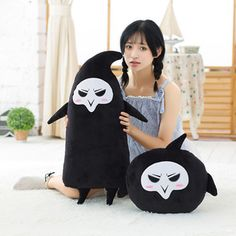 One Piece 2 Types Overwatches Reaper Deadpool Plush Toys Around Rye Pioneer Plush Seat cushion Funny Toys For Children Boy Gifts