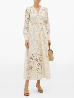 Shop our edit of women's designer Dresses from luxury designer brands at MATCHESFASHION Lace Summer Dresses, Beach Wear Dresses, Nice Dresses, Lace Dress, Stunning Dresses, Wedding Dresses, Types Of Lace, Cotton Shirt Dress, White Lace