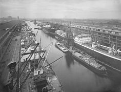 Number 9 Dock, Manchester Ship Canal - 1930s