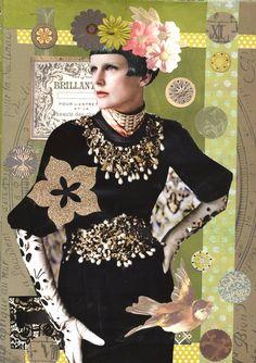"""""""Velvet and Green"""" by Linda Mitcheltree 2-1-13 Beautiful Dolce and Gabana velvet dress !"""