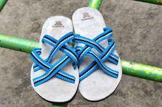 """WAYUU SANDALS US6-6.5/EUR39/UK5.5-6. Typical Wayuu Indian footwear called """"Wayrenas."""" www.colombiart.co"""