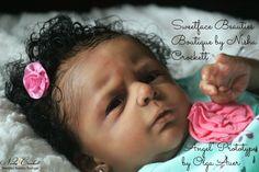 "Gorgeous Ethnic AA Biracial Baby Girl ""Angel"" Prototype by Olga Auer Real Looking Baby Dolls, Real Life Baby Dolls, Real Doll, Reborn Toddler Dolls, Reborn Dolls, Reborn Babies, Ooak Dolls, Baby Doll Nursery, Reborn Nursery"