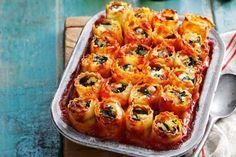 Pumpkin, ricotta & spinach cannelloni