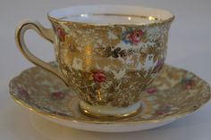 VintageChintz Tea Cup and Saucer Set