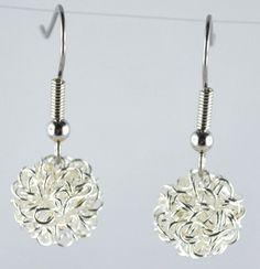 Ohrringe mit filigranen Drahtkugeln von mia's dekostube auf DaWanda.com