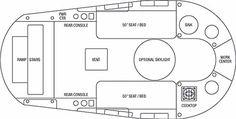 "Airstream Basecamp floorplan. 16'2"" long."