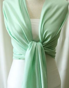 Bridal party gifts seafoam green pashmina shawl by ClassyWedding Mint Color, Mint Green, Olive Green, Monogrammed Bridesmaid Gifts, Wedding Venues Toronto, Green Color Schemes, Fringe Fabric, How To Make Scarf, Wedding Pins