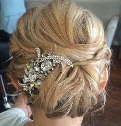 Wedding Chignon For Medium Hair