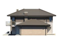 DOM.PL™ - Projekt domu TP Enes CE - DOM TP2-48 - gotowy koszt budowy House Outside Design, Modern Architecture House, Drafting Desk, Gazebo, House Plans, Outdoor Structures, Furniture, Home Decor, Model