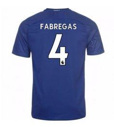 Billiga Chelsea Cesc Fabregas 4 Hemmatröja 17-18 Kortärmad Neymar, Messi, Stamford, Chelsea Fc, Ronaldo, Premier League, Sports, Sport, Chelsea F.c.