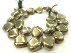 Pyrite Smooth Heart / 9.50 to 10 mm / 24 Pieces by beadsofgemstone