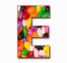 "Scrapbook Alphabet: ""Jelly Beans"" JPG Free Scrapbook Alphabet Letters"