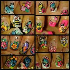 Viviana Fancy Nails Designs, French Tip Nail Designs, Fingernail Designs, French Tip Nails, Butterfly Nail, Pedicure Nail Art, Types Of Nails, Stylish Nails, Christmas Nails