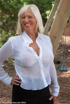 Thin granny white blouse — 11