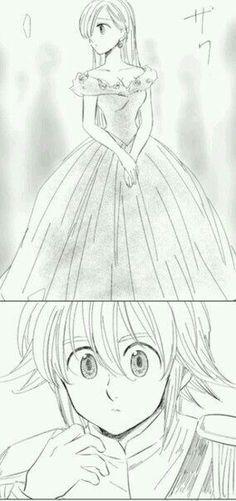 Nanatsu no Taizai Elizabeth Seven Deadly Sins, Seven Deadly Sins Anime, 7 Deadly Sins, Meliodas And Elizabeth, Elizabeth Liones, Sir Meliodas, Seven Deady Sins, 7 Sins, Anime Love Couple