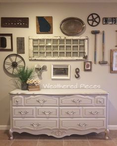 French Provincial Dresser painted in Faux Real Mineral Paint Lino