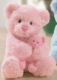 Pink teddy bears.
