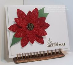 Sparkly and Gorgeous Christmas card!   - Stampin' Up!