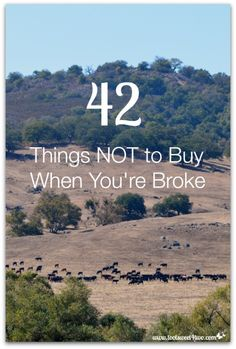 42 Things NOT to Buy