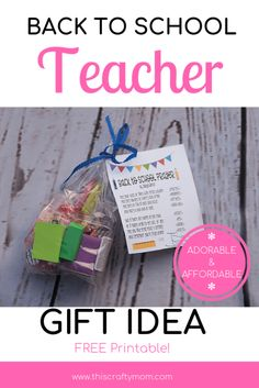 Looking for the perfect back to school teacher gift? Check out this post with an adorable and affordable DIY back to school teacher gift idea! Survival Kit For Teachers, Teacher Survival, Survival Kit Gifts, Survival Tips, Back To School Prayer, Diy Back To School, Cute Teacher Gifts, Teacher Appreciation Gifts, Teacher Stuff