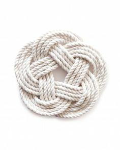 DIY Rope Coasters via. Martha Stewart