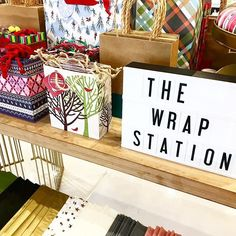 The Wrap Station - it's new, it's fun and just in time for the holidays! Tissue paper by the sheet, individual tags and bags. Wrapping made easy, by WISH! #wishparkcity #cinemalightbox #giftwrapping #giftbags #tags #tissuepaper #thegiftwrapcompany    #Regram via @wishparkcity