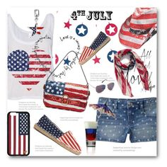 """""""4th July"""" by aysebt ❤ liked on Polyvore featuring Peter Grimm, OAS, Marc Jacobs, BP., Red Camel, Forever 21, Bling Jewelry, redwhiteandblue, july4th and polyvoreeditorial"""