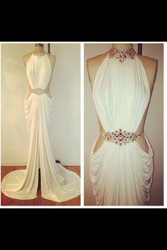 SEXY LONG RHINESTONE DRESS from kslademade
